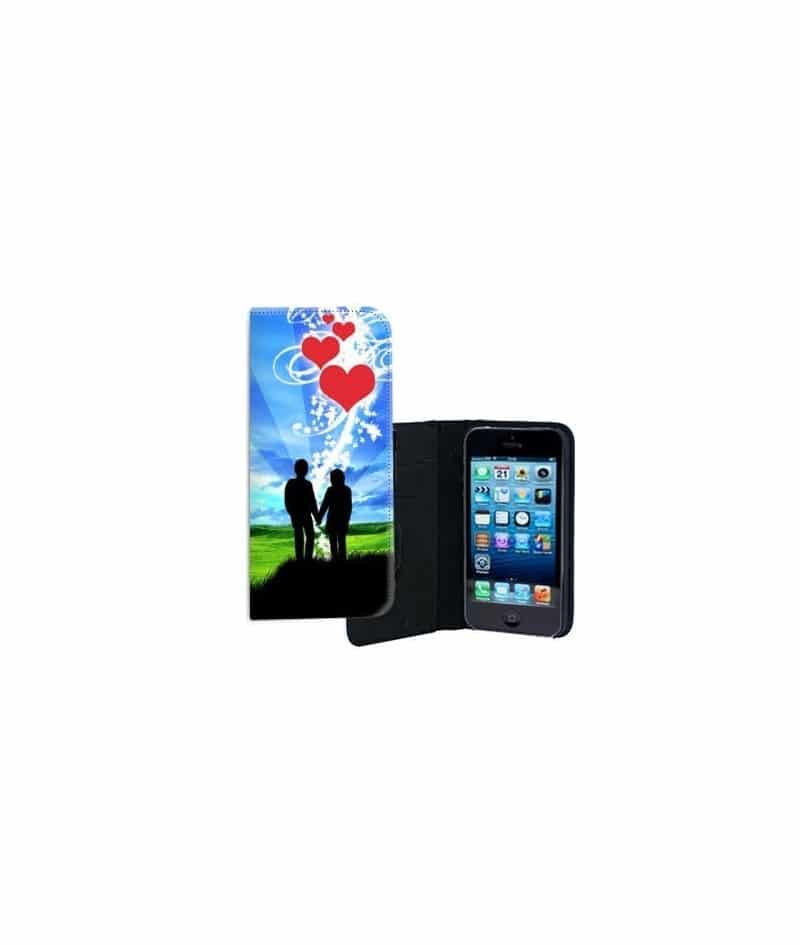 etui rabattable lovers pour iphone 5 5s. Black Bedroom Furniture Sets. Home Design Ideas