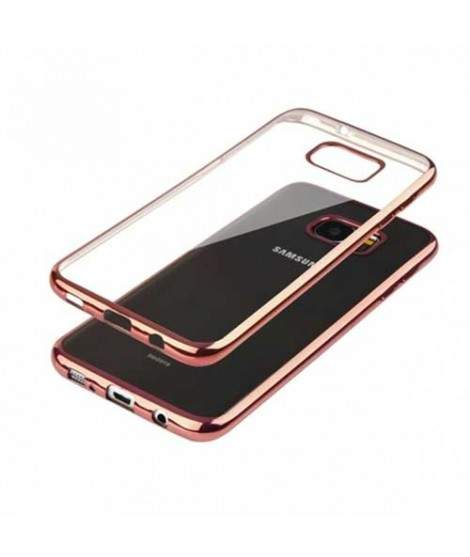 Coque silicone CRYSTAL DELUXE OR ROSE pour samsung galaxy