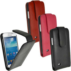 Etui cuir Portefeuille noir FOLIO pour Samsung Galaxy S4 mini GT-I9195X