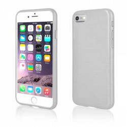 Coque effet METALLIC blanche pour iPhone 7