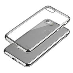 Coque CRYSTAL DELUXE ARGENT souple pour iPhone 6+ et 6+S