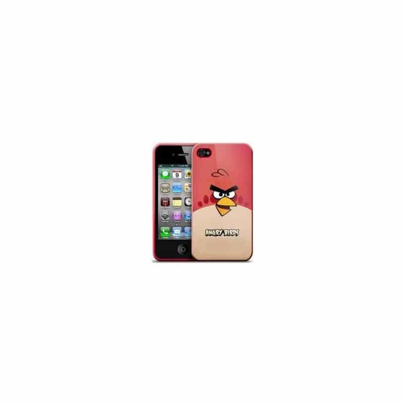 coque angry birds rouge pour iphone 4 et 4s. Black Bedroom Furniture Sets. Home Design Ideas