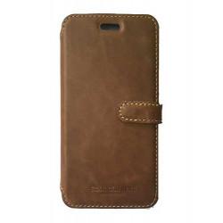 Etui portefeuille originale STARCLIPPERS en cuir marron pour iPhone 7 plus
