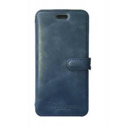 Etui portefeuille originale STARCLIPPERS en cuir bleu pour iPhone 7 plus