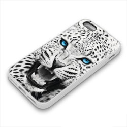 Coque Gel BLUE LEOPARD pour iPhone