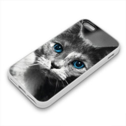 Coque Gel BLUE CAT pour iPhone