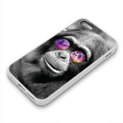 Coque Gel MONKEY GLASS pour iPhone