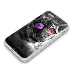 Coque Gel TIGER GLASS pour iPhone
