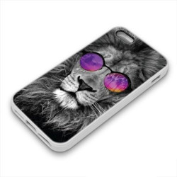Coque Gel LION GLASS pour iPhone