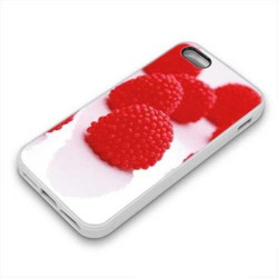 Coque Gel FRAMBOISES pour iPhone