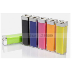 Batterie verte POWER BANK 2800mAh pour telephones et MP3