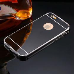 Coque MIRROR noire souple pour iPhone 7