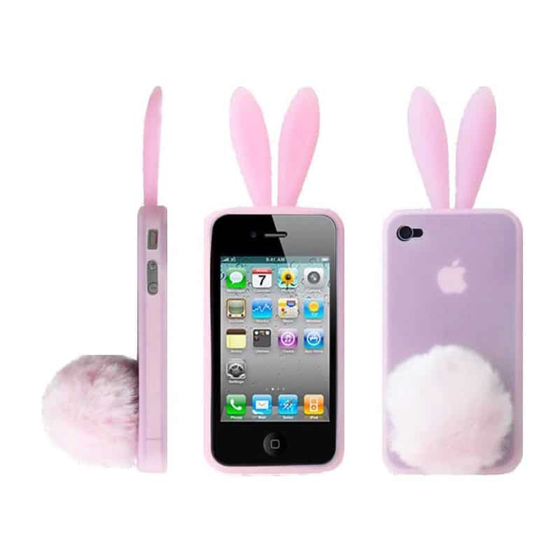 coque rabbit rose pour iphone 4 et 4s. Black Bedroom Furniture Sets. Home Design Ideas