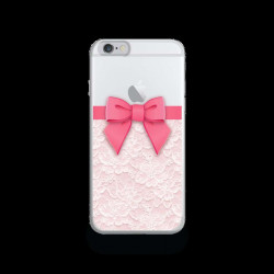 Coque Gel NOEUD ROSE pour iPhone