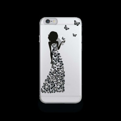 Coque Gel ROBE PAPILLONS pour iPhone