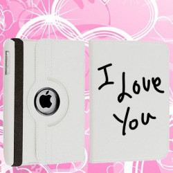 Etui cuir 360 I LOVE YOU pour Tablettes