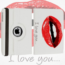 Etui cuir 360 I LOVE YOU 2 pour Tablettes