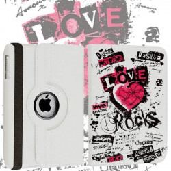 Etui cuir 360 LOVE ROCK pour Tablettes