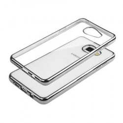 Coque gel CRYSTAL DELUXE argent pour samsung galaxy