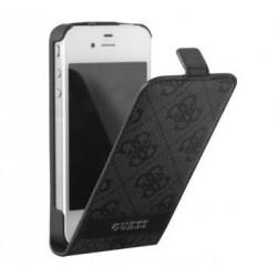 Etui à rabat Guess gris 4G pour iPhone 5 / 5S / SE