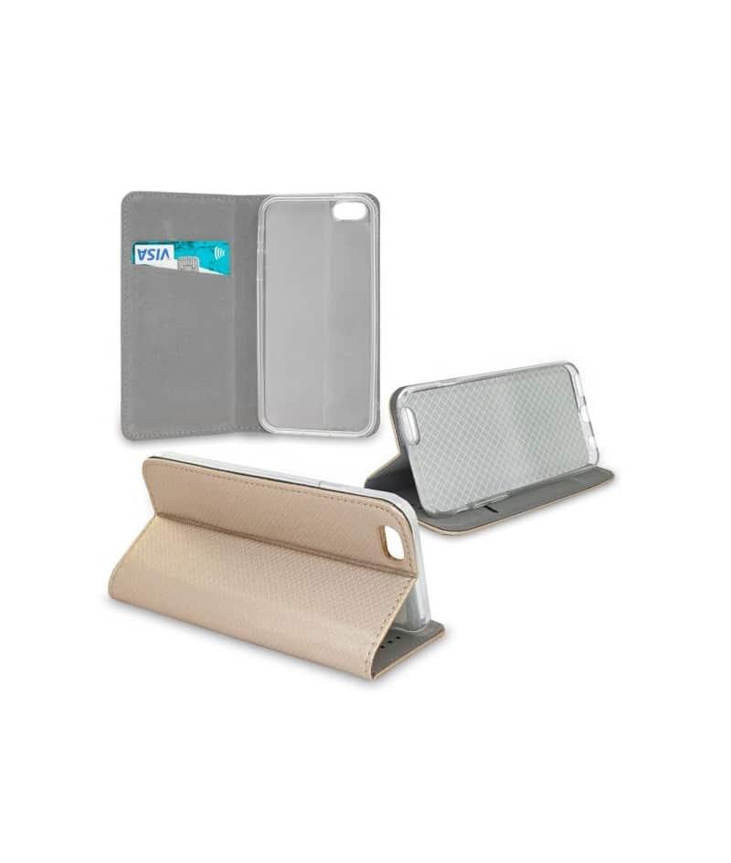 etui rabattable or portefeuille pour iphone 5 5s et se. Black Bedroom Furniture Sets. Home Design Ideas