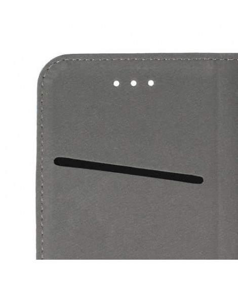 Etui cuir portefeuille MAGNETIC blanc pour SAMSUNG GALAXY S7 EDGE
