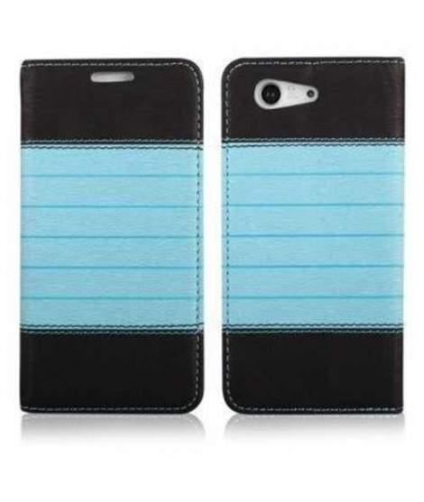 Etui cuir portefeuille bleu magnetic pour iPhone 6 et 6S