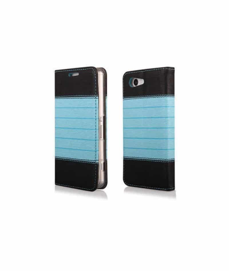 Etui cuir portefeuille bleu magnetic pour iphone 6 et 6s for Etui iphone 6 portefeuille