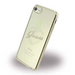 Coque souple GUESS GOLD LOVE pour iPhone 7