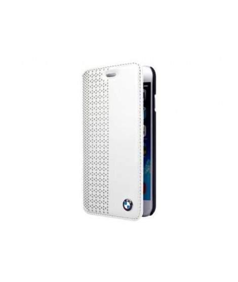 HOUSSE ETUI FOLIO BLANC BMW iPhone 6+ et 6+S