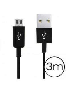 Câble 3 mêtres micro USB pour Smartphones et tablettes