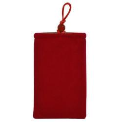 Pochette rouge universelle pour telephones et lecteurs mp3