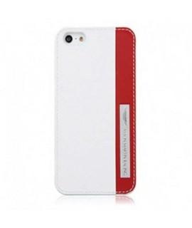 Coque cuir original blanche et rouge ASTON MARTIN pour iPhone 5 et 5S
