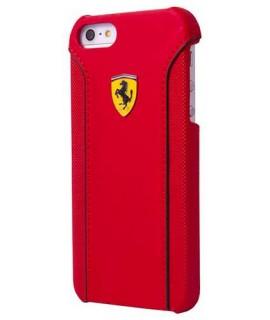 Coque cuir originale rouge FERRARI pour iPhone 6 Plus