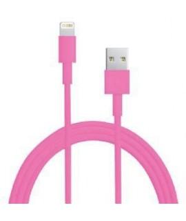 Câble USB LIGHTNING rose pour iPhone X