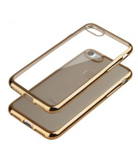 Coque CRYSTAL DELUXE OR souple pour iPhone 8 plus