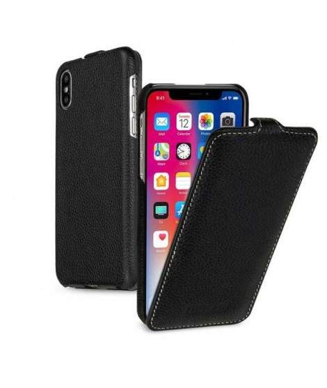etui rabattable noir clapet pour iphone x. Black Bedroom Furniture Sets. Home Design Ideas