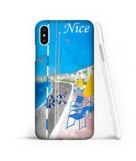 Coque Gel LA CHAISE BLEUE COLLECTION 2 de NICE pour iPhone