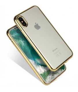 Coque CRYSTAL DELUXE OR souple pour iPhone X