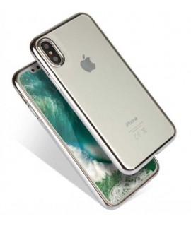 Coque CRYSTAL DELUXE ARGENT souple iPhone X/XS