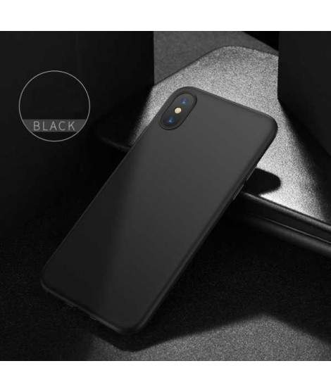 Coque silicone noire pour iPhone X