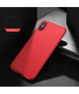 Coque silicone rouge pour iPhone X