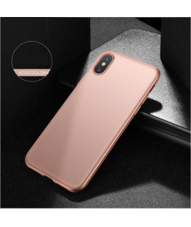Coque silicone rose pour iPhone X