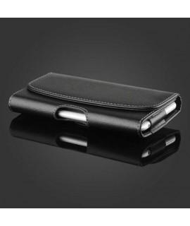 Etui cuir Clip Horizontal Ceinture pour Apple iPhone X