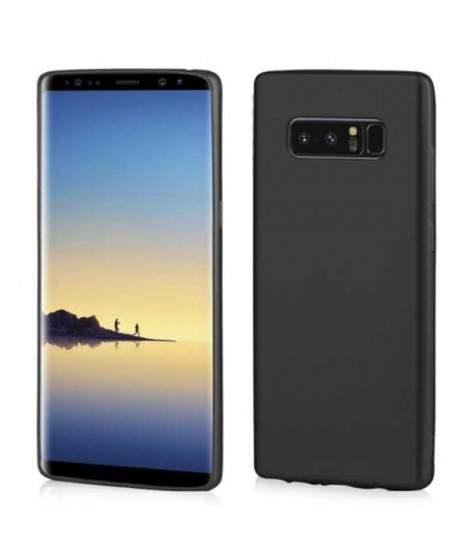 Coque SILICONE noir Samsung Note 8