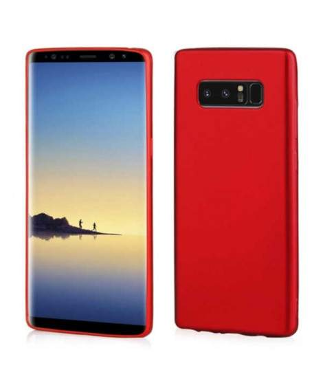 Coque SILICONE rouge Samsung Note 8