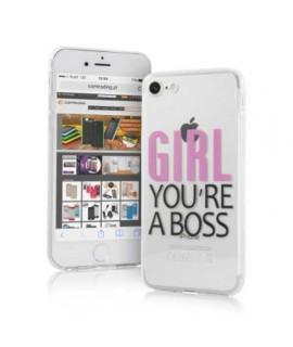 Coque souple GIRL iPhone 8