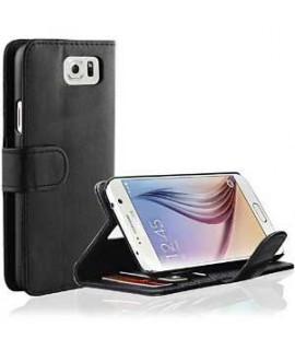 Etui cuir portefeuille noir pour SAMSUNG GALAXY S6 edge plus