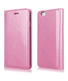 Etui portefeuille en cuir rose pour Iphone 4 et 4s
