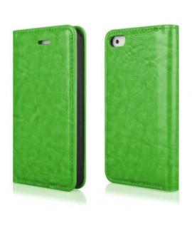 Etui portefeuille en cuir vert pour Iphone 4 et 4s
